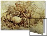The Battle of Anghiari, 1500 Poster by  Leonardo da Vinci