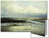 Sunlit Clouds and Sea Poster by William Trost Richards