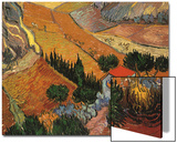 Landscape with House and Ploughman, 1889 Art by Vincent van Gogh