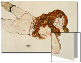 Female Nude on Her Stomach, 1917 Print by Egon Schiele