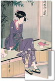 Mujer Sentada En Una Veranda, Ca. 1798 Art by Kitagawa Utamaro