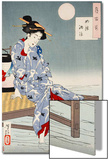 Cooling Off at Shijo, One Hundred Aspects of the Moon Print by Yoshitoshi Tsukioka