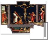 Isenheimer Altar. Erste Schauseite, Totale: die Hll.Antonius Und Sebastian Print by Matthias Grünewald
