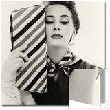 Barbara Miura with Madame Crystal Handbag and Neck Tie, 1953 Posters av John French