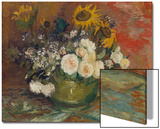 Sunflowers, Roses and Other Flowers in a Bowl, 1886 Posters by Vincent van Gogh