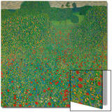 A Field of Poppies, 1907 Posters by Gustav Klimt