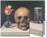 Vanitas Still Life with a Tulip, Skull and Hour-Glass Prints by Philippe De Champaigne