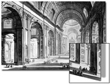 View of the Interior of St. Peter's Basilica, from the 'Views of Rome' Series, C.1760 Prints by Giovanni Battista Piranesi