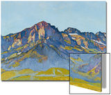 Dents Blanches Near Champery in the Morning Sun, 1916 Prints by Ferdinand Hodler