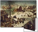 The Census at Bethlehem, 1566 Print by Pieter Bruegel the Elder