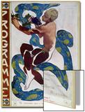"Nijinsky's Faun Costume in ""L'Apres Midi D'Un Faune"" by Claude Debussy Posters by Leon Bakst"