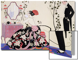 The Backless Dress Posters by Georges Barbier