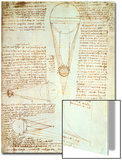 Studies of the Illumination of the Moon, Fol. 1R from Codex Leicester, 1508-1512 Poster by  Leonardo da Vinci