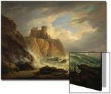 Tantallon Castle with the Bass Rock, C.1816 Kunstdrucke von Alexander Nasmyth