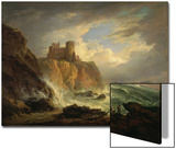 Tantallon Castle with the Bass Rock, C.1816 Prints by Alexander Nasmyth