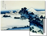 36 Views of Mount Fuji, no. 13: Shichiri Beach in Sagami Province Posters by Katsushika Hokusai