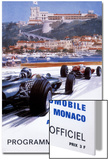 The Official Programme for the 24th Monaco Grand Prix, 1966 Art by Michael Turner