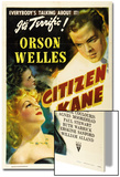 "American, 1941, ""Citizen Kane"" Directed by Orson Welles Poster"