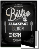 Bistro Chalkboard Poster For Vintage Design Prints by Ozerina Anna