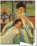 Young Mother Sewing, 1900 Posters by Mary Cassatt