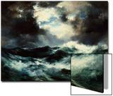 Moonlit Shipwreck at Sea Thomas Moran (1837-1926), 1901 Prints by Thomas Moran