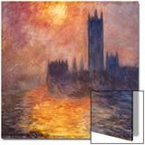 The Parliament Building in London During Sunset, 1904 Posters by Claude Monet