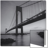 Verrazano Bridge, New York City at Night Posters by Henri Silberman