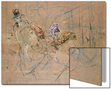 Sketch for 'At the Masked Ball', C.1892 Prints by Henri de Toulouse-Lautrec