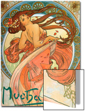 Dance (From the Series the Art), 1898 Láminas por Alphonse Mucha