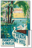 Hampstead Heath and Parliament Hill, London County Council (LC) Tramways Poster, 1933 Print by RF Fordred