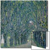 Tree-Lined Road Leading to the Manor House at Kammer, Upper Austria, 1912 Poster von Gustav Klimt