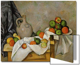 Curtain, Jug and Bowl of Fruit, 1893-1894 Prints by Paul Cézanne