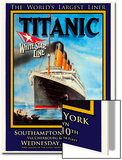 Titanic White Star Line Travel Poster 1 Posters by Jack Dow