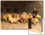 Daniel in the Lions' Den, 1872 Print by Briton Rivière