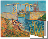 The Drawbridge at Arles with a Group of Washerwomen, c.1888 Art by Vincent van Gogh