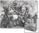 The Battle of Anghiari after Leonardo Da Vinci (1452-1519) Print by Peter Paul Rubens
