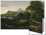The Course of Empire: the Arcadian or Pastoral State, C.1836 Posters par Thomas Cole