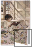A Girl Reading, from 'A Child's Garden of Verses' by Robert Louis Stevenson, Published 1885 Affiches par Jessie Willcox-Smith