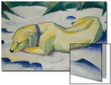 Dog Lying in the Snow, 1910/1911 Poster by Franz Marc