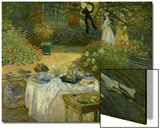 Le Dejeuner (Luncheon in the Artist's Garden at Giverny), circa 1873-74 Posters by Claude Monet