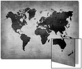 World  Map 8 Print by  NaxArt