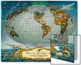 Manuscript Map of the World - Pan American World Airways, C.1942 Prints