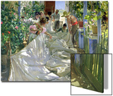 Mending the Sail Poster by Joaquín Sorolla y Bastida