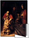 The Return of the Prodigal Son, C1668 Prints by  Rembrandt van Rijn