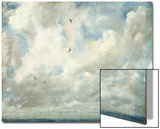 Cloud Study, 1821 (Oil on Paper Laid Down on Board) Print by John Constable