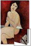 Große sitzende Nackte Poster von Amedeo Modigliani