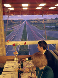 An Italian Couple Take their Supper in One of the Highway-Spanning Restaurant of the Pavesi Chain Photographic Print by Ralph Crane