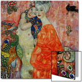 Girlfriends, 1916-1917 Poster by Gustav Klimt