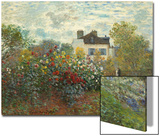 The Artist's Garden in Argenteuil (A Corner of the Garden with Dahlias), 1873 Print by Claude Monet
