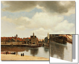 View of Delft, about 1660 Prints by Jan Vermeer